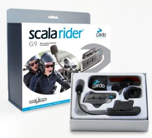 Cardo Scala Rider G9 Powerset (Includes 2 G9 Headsets) Bluetooth motorcycle intercom (box)