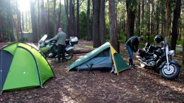 motorcycle camping tips