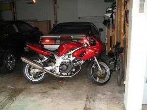 motorcycle winter storage garage
