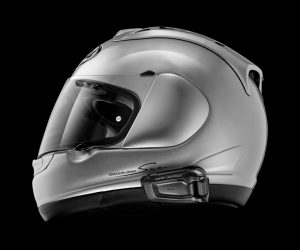 Scala Rider Smartpack Duo Bluetooth Motorcycle Intercom - fitted on full face helmet