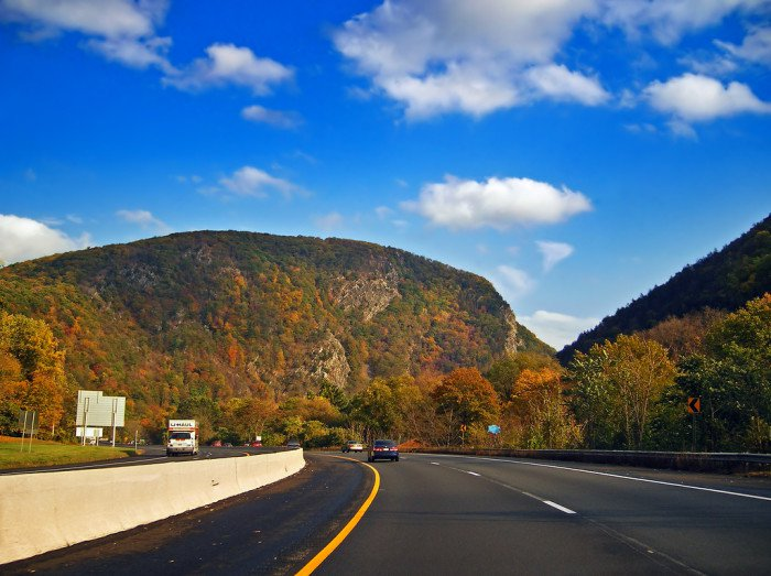 Motorcycle Route 80 Through Warren County New Jersey