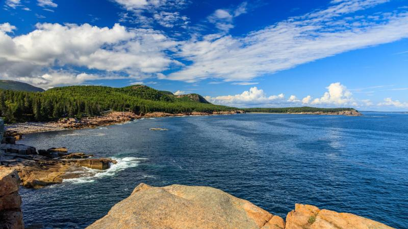 Rocky Ocean Coast Drive in Acadia National Park Maine